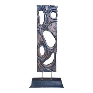 Vintage Mid-Century George Mullen Free Standing Walnut Sculpture For Sale