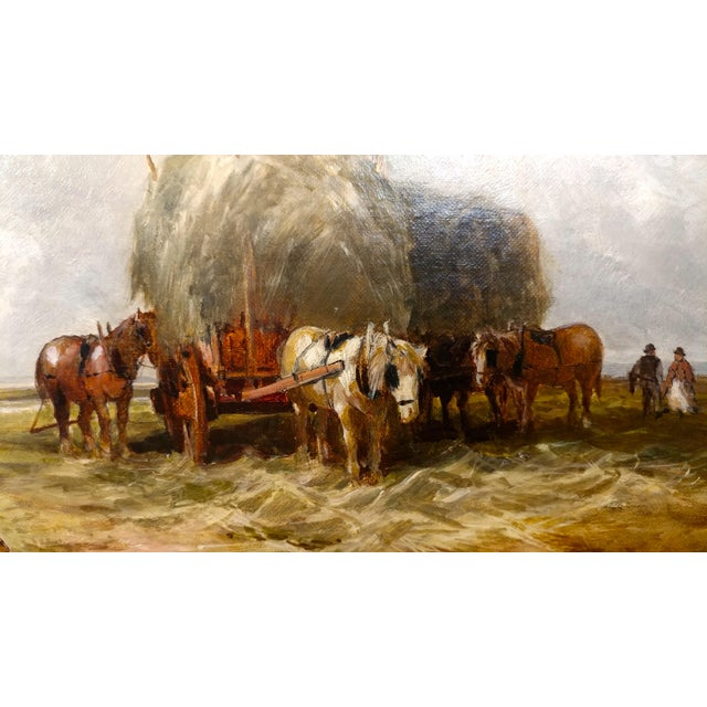 19th Century Edmund Morison Wimperis Harvesters Resting Oil Painting For Sale In Los Angeles - Image 6 of 10