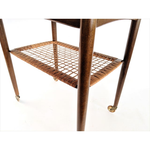1960s Vintage Paoul Jensin for Selig Danish Modern Bar Cart For Sale In Miami - Image 6 of 13