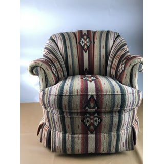 1990s Southwestern Blanket Rancho Club Chair Preview