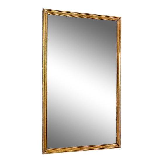 Fine Quality Art Deco Brass Brasserie Mirror For Sale