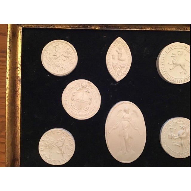 Italian Grand Tour Intaglios in Frame. 7 Intaglios For Sale - Image 9 of 11