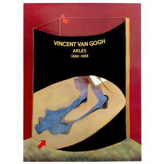 "Francis Bacon Rare Vintage 1988 Lithograph Print Exhibition Poster "" Vincent Van Gogh Arles 1888 - 1988 "" For Sale"