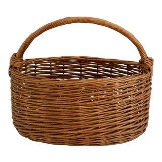 Oblong Wicker Basket For Sale