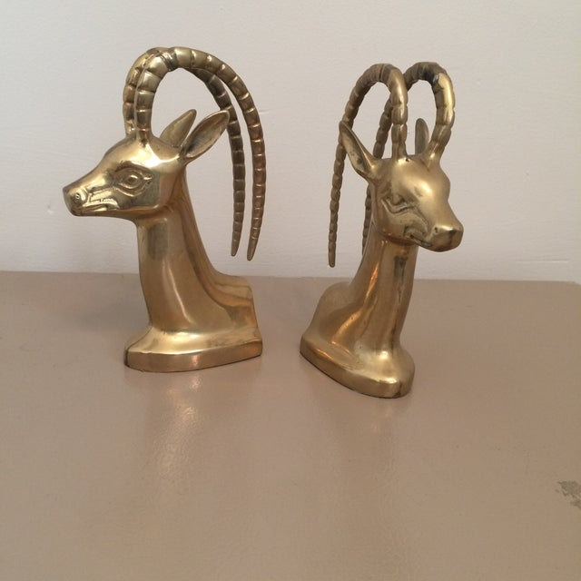 Brass Ibex Bookends - Image 2 of 8