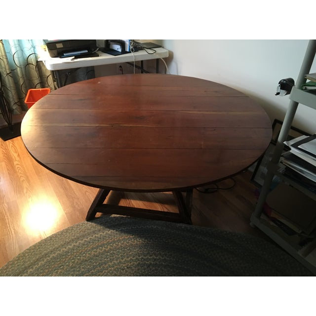 20th Century Revolving Country Round Dining Table For Sale - Image 10 of 10