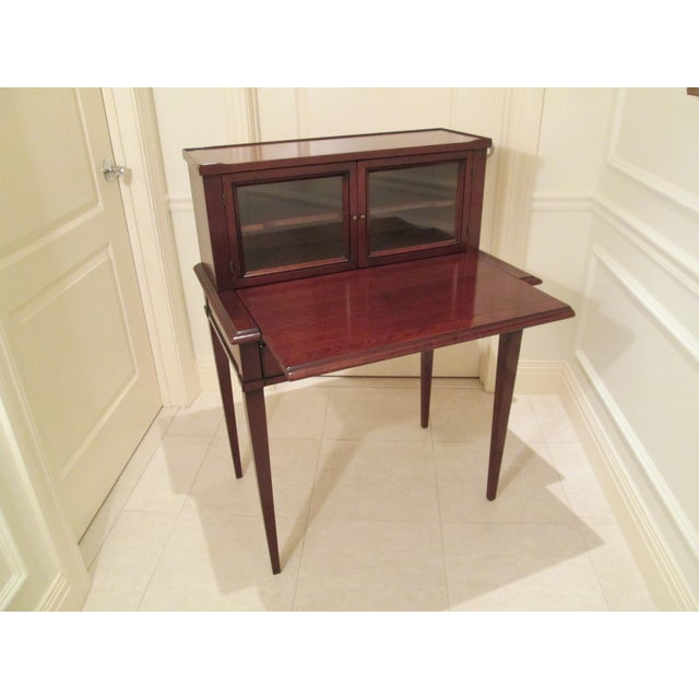 Grange Writing Desk with Curio For Sale In Boston - Image 6 of 12