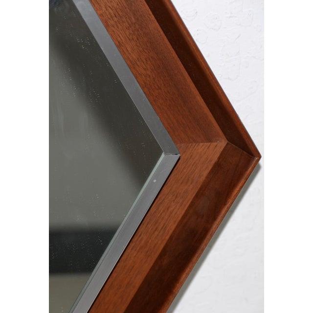 Arthur Umanoff Walnut Framed Mirror by Arthur Umanoff for Howard Miller C.1965 For Sale - Image 4 of 8
