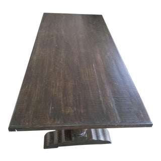 Rustic Solid Wood Dining Table For Sale