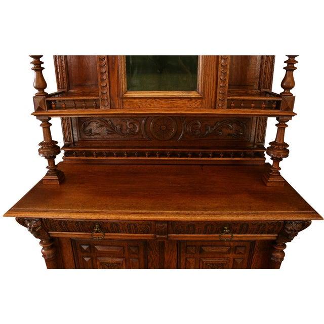 Wood Antique Belgian Renaissance Buffet For Sale - Image 7 of 8