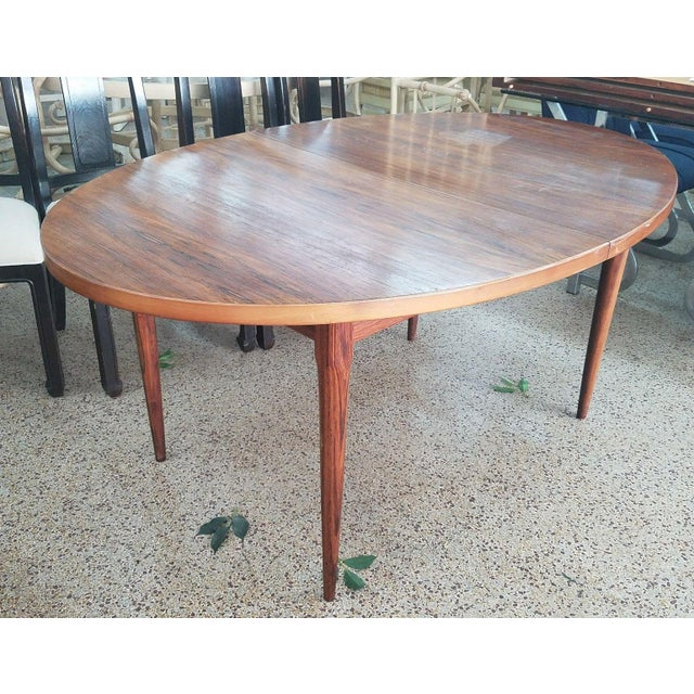 Wood 1960's Danish Mid-Century Modern Style Rosewood Dining Table For Sale - Image 7 of 12