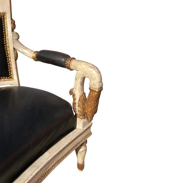 Contemporary 1800's French Carved and Gilded Settee For Sale - Image 3 of 8