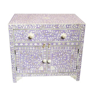 Inlay Lavender Bedside Cabinet For Sale