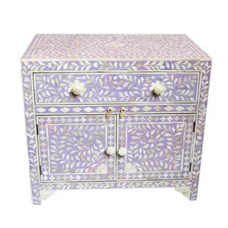 Inlay Lavender Bedside Cabinet