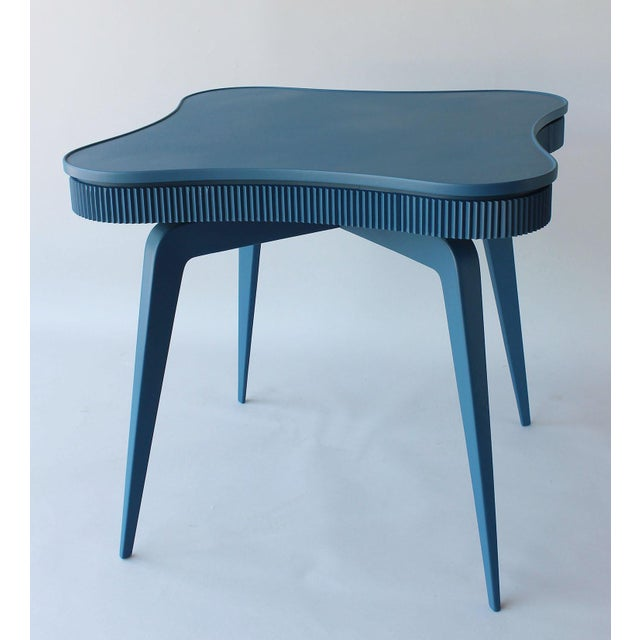 Cerulean Mid-Century Italian Game Table For Sale - Image 8 of 8