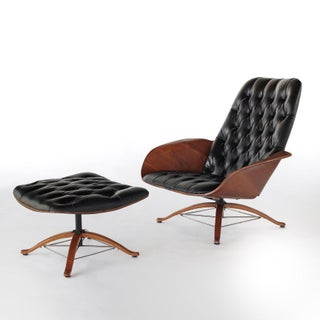 Mid Century Modern George Mulhauser for Plycraft Early Mr Chair Lounge Chair & Ottoman Preview