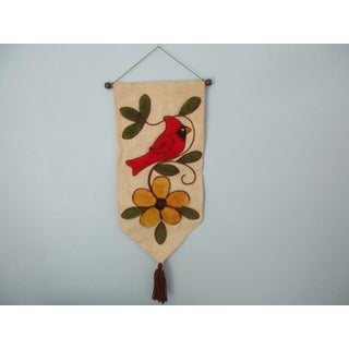 Vintage Latch Hook Cardinal Wall Art Preview