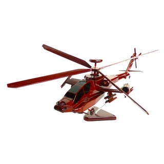Wooden Helicopter Model