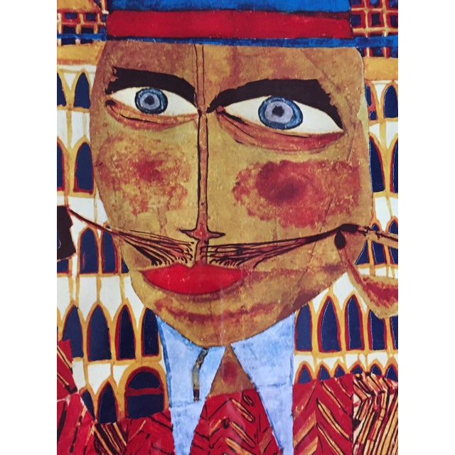 """Vintage 1973 Framed """"Hundertwasser"""" Exibition Poster For Sale - Image 10 of 11"""