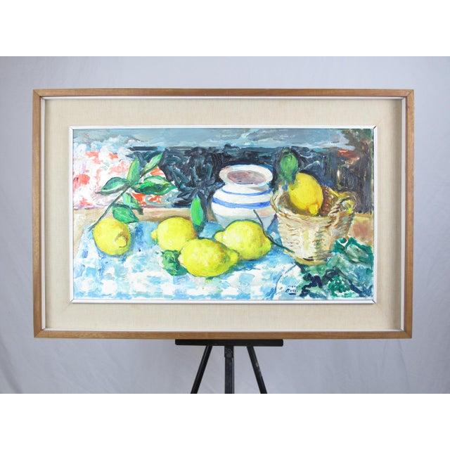 Paint Vintage Mid-Century Mario Bucci Italian Modernist Still Life Painting For Sale - Image 7 of 7
