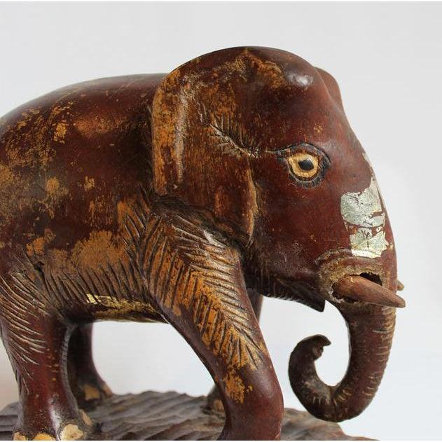 Antique Wood Thai Elephant - Image 2 of 4