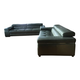 Natuzzi Leather Couch and Loveseat - 2 Pc.