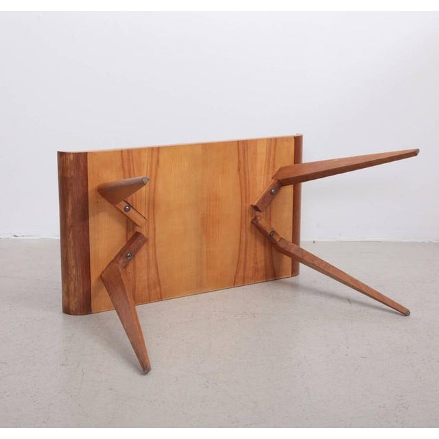 1950s Spanish Modernist Pagoda Coffee or Side Table in Oak by Manuel Barbero 1953 For Sale - Image 5 of 5