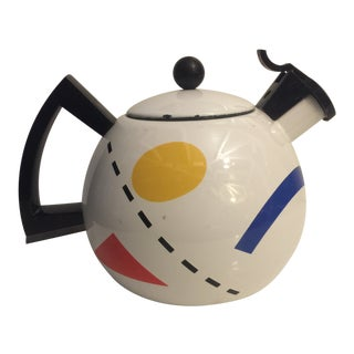 1980s Memphis Sam Lebovitz Copco Tea Kettle For Sale