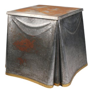 Heavily Patinated John Dickinson Galvanized Steel Occasional Table For Sale