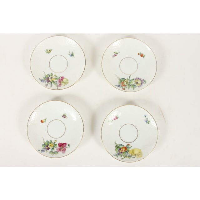 Bing&Grondahl Saxon Flower Cup & Saucer - Set of 4 - Image 3 of 5