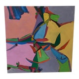 Image of Aerial Landscape in Pink Painting For Sale