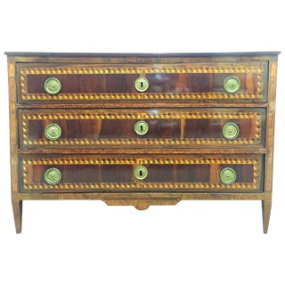 18th Century Louis XVI Marquetry Commode or Chest of Drawers With Tulipwood For Sale
