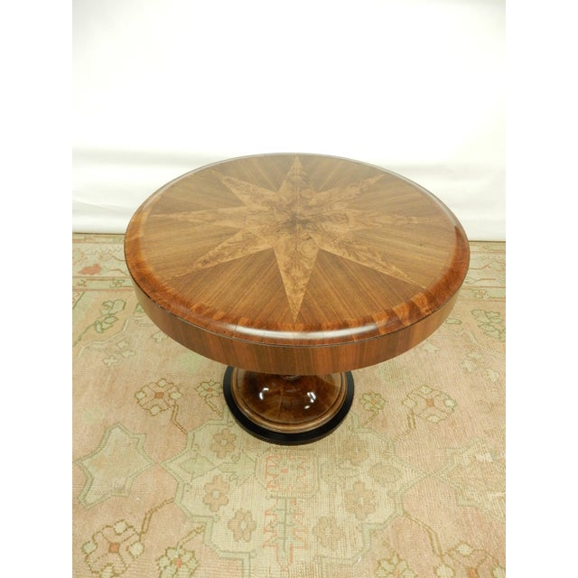Wood Unusual Inlaid Art Deco Table For Sale - Image 7 of 7