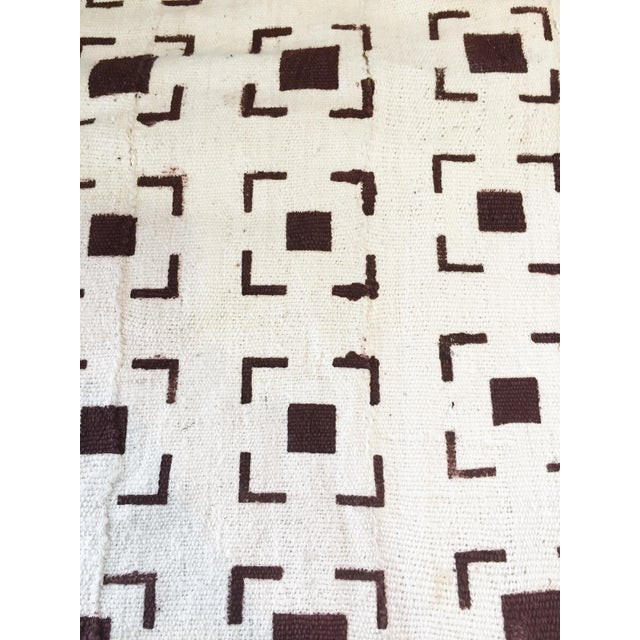 Cotton Brown and White Mud Cloth Textile Mali For Sale - Image 7 of 8
