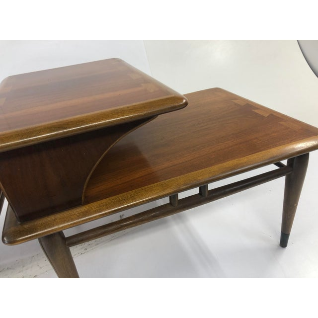 Vintage Mid Century Modern Step Tables - a Pair - Acclaim by Lane Furniture For Sale - Image 9 of 13