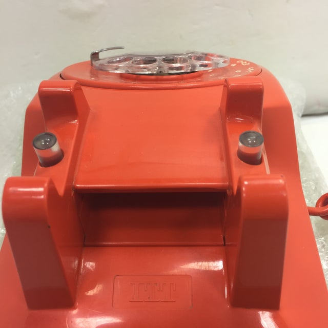 Vintage Stromberg Carlson Orange Rotary Dial Phone - Image 7 of 11