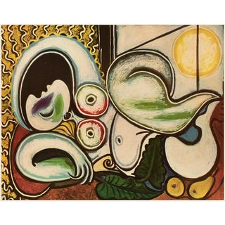 """1954 Pablo Picasso """"Odalisca"""", Large Period First Limited Italian Edition Lithograph For Sale"""