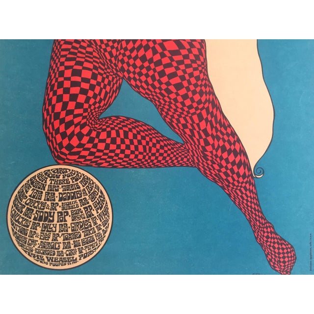 """John Hitesman Rare Vintage 1960's Mid Century Modern """" the Pops Generation """" Lithograph Print Collector's Op Art Poster For Sale In Kansas City - Image 6 of 13"""