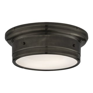Visual Comfort Siena Small Flush Mount in Bronze For Sale