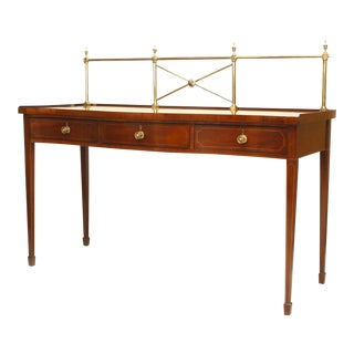 18th Century Georgian Mahogany Console Serving Table For Sale