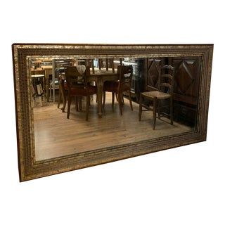 Extra Large Antique Gold Shell Beveled Glass Mirror For Sale