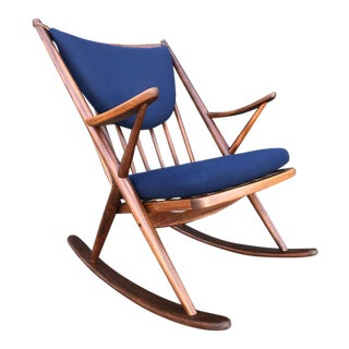 Mid Century Danish Rocking Chair For Sale