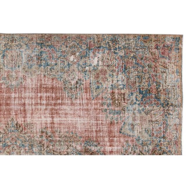 "1910s Apadana-Antique Persian Distressed Rug, 9'5"" X 13'0"" For Sale - Image 5 of 9"