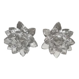 Irish Lead Crystal Candle Holders - A Pair For Sale