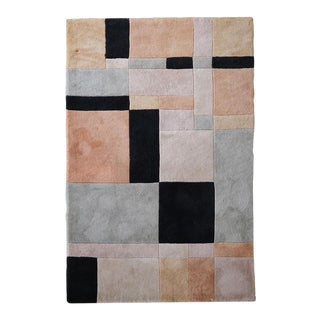 Art Deco Colorblock Rug For Sale