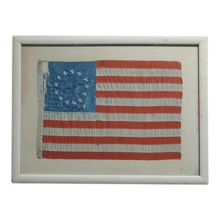 Betsy Ross Circa 1876 Antique 13 Star US Flag