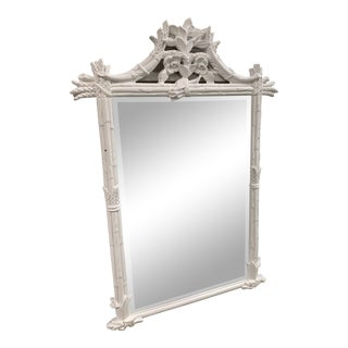 Vintage White Pagoda Mirror For Sale