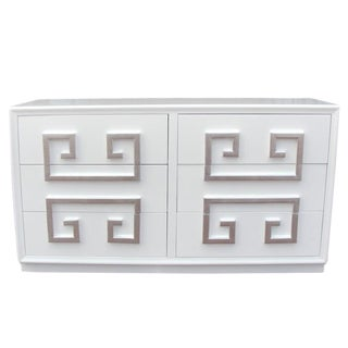 Hollywood Regency Kittinger Greek Key Double Dresser For Sale