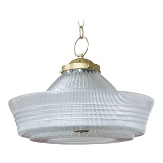 Vintage Hanging Glass Light, 20th Century For Sale