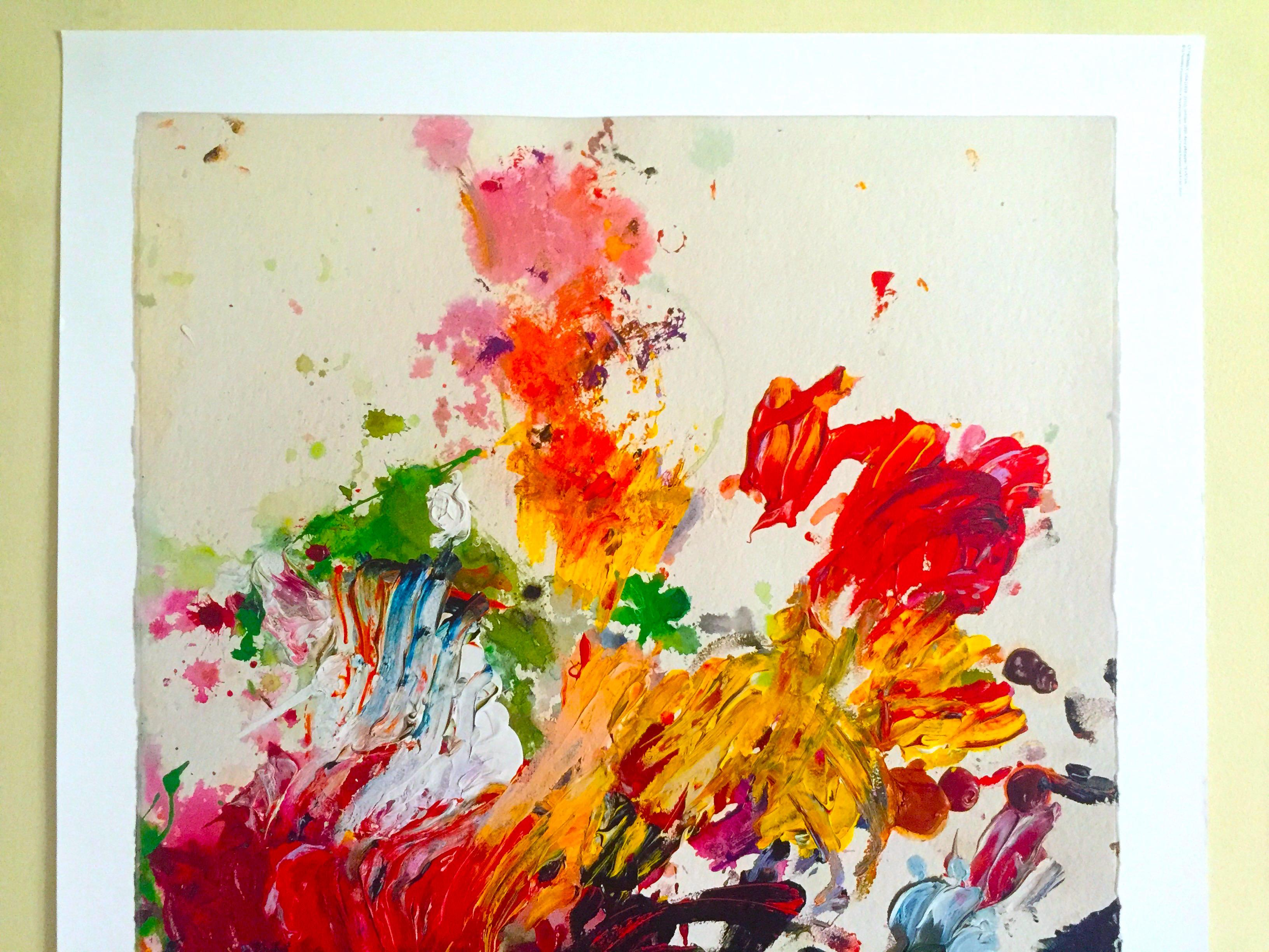 cy twombly abstract expressionist lithograph print moderna museet ...
